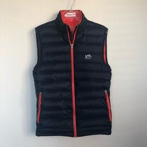 Southern Tide Puffer Front Zip Fish Logo Vest